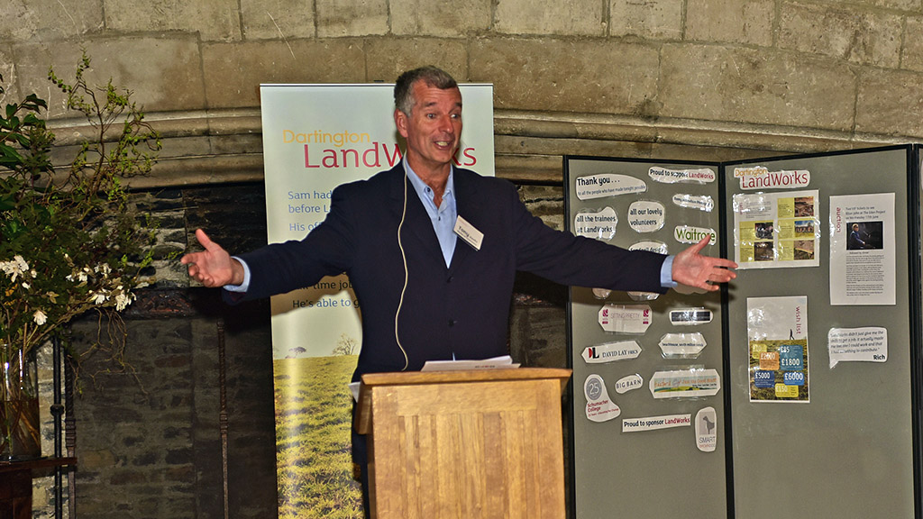 Tony Hawks speaks at LandWorks event. (c) Remy Mitchelson Photography
