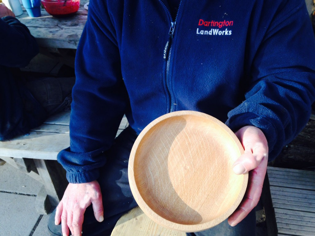 Bowl hand-crafted by LandWorks trainee