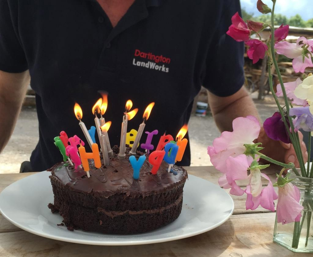 Time to celebrate: LandWorks' 2nd birthday cake